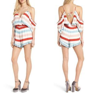 Lovers + Friends Off the Shoulder Romper Size XL